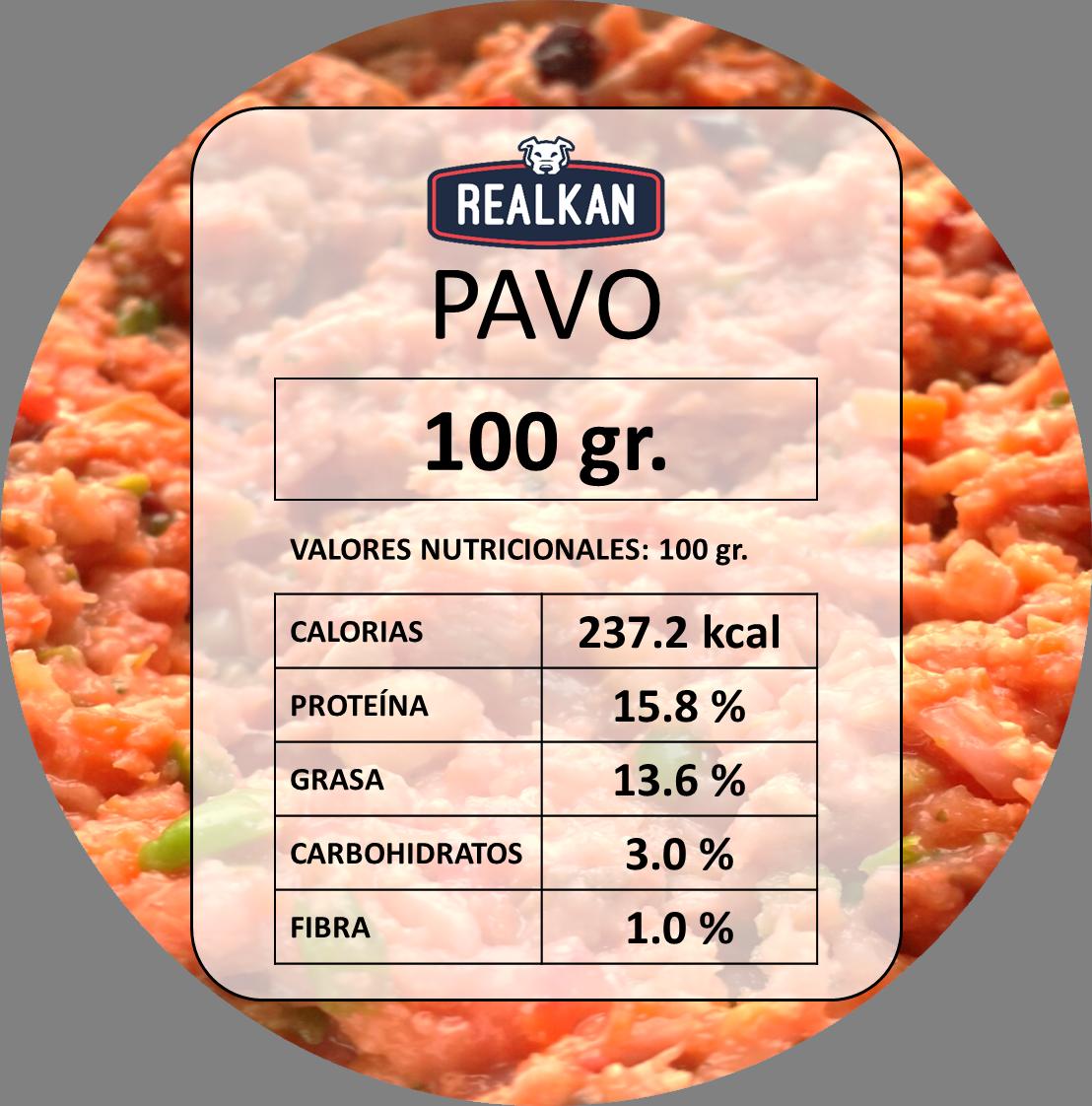 RECETA PAVO: brazuelo y carne de pavo, carne de res, mezcla de vegetales* y aceites y semillas**. *Mezcla de vegetales: zanahoria, camote, brócoli, betarraga, apio, pepino, col y espinaca. **Aceites y semillas: aceite de oliva, vinagre de manzana, girasol, chía, linaza, ajonjolí, infusión de menta y manzanilla.  No solo les encanta si no que cubre todas las necesidades.