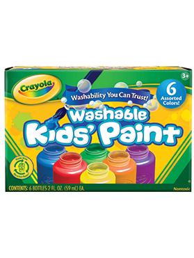 Rendimiento y calidad Realmente lavables No tóxicos      Descripción    Útiles para todo tipo de dibujos, incentivando la creatividad de los niños. Para niños de 3 años a más. Incluye:6 frascos de 2 oz. con colores brillantes.