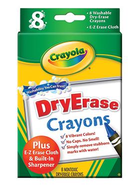 Rendimiento y calidad Realmente lavables No tóxicos      Descripción    8 crayones lavables. Sin olor fuerte. Incluye tarjador. Tamaño y diseño especial que estimula el proceso de desarrollo motriz.