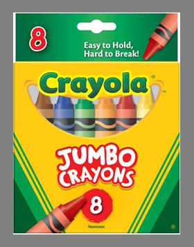 Rendimiento y calidad Realmente lavables No tóxicos      Descripción    Crayones super gruesos. Especiales para desarrollar actividades motrices en los niños. Incluye: 8 crayones en diferentes colores.