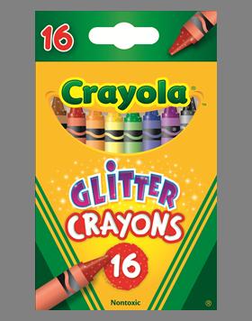 Rendimiento y calidad Realmente lavables No tóxicos      Descripción    8 crayones con efecto glitter.