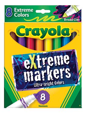 Rendimiento y calidad Realmente lavables No tóxicos      Descripción    Dale a tus proyectos una explosión de color. 8 plumones en colores neón con punta ancha.