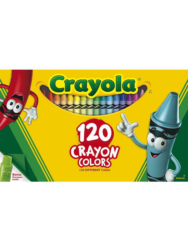 Rendimiento y calidad Realmente lavables No tóxicos      Descripción    120 crayones estándar.