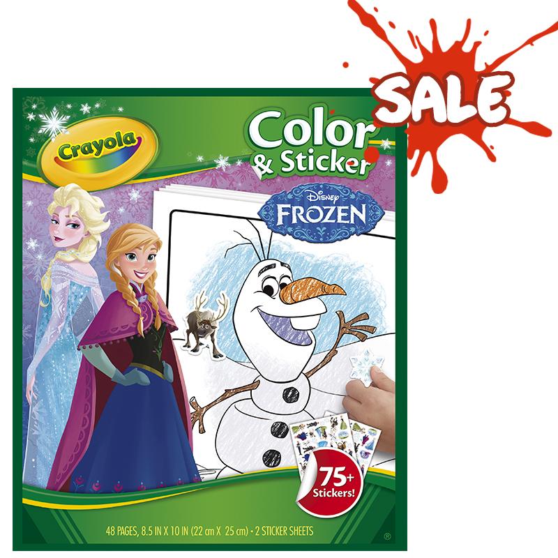 Rendimiento y calidad No tóxicos      Descripción    Libro para colorear y stickers con imágenes de Frozen. Contiene:48 hojas para colorear y2 páginas de stickers.