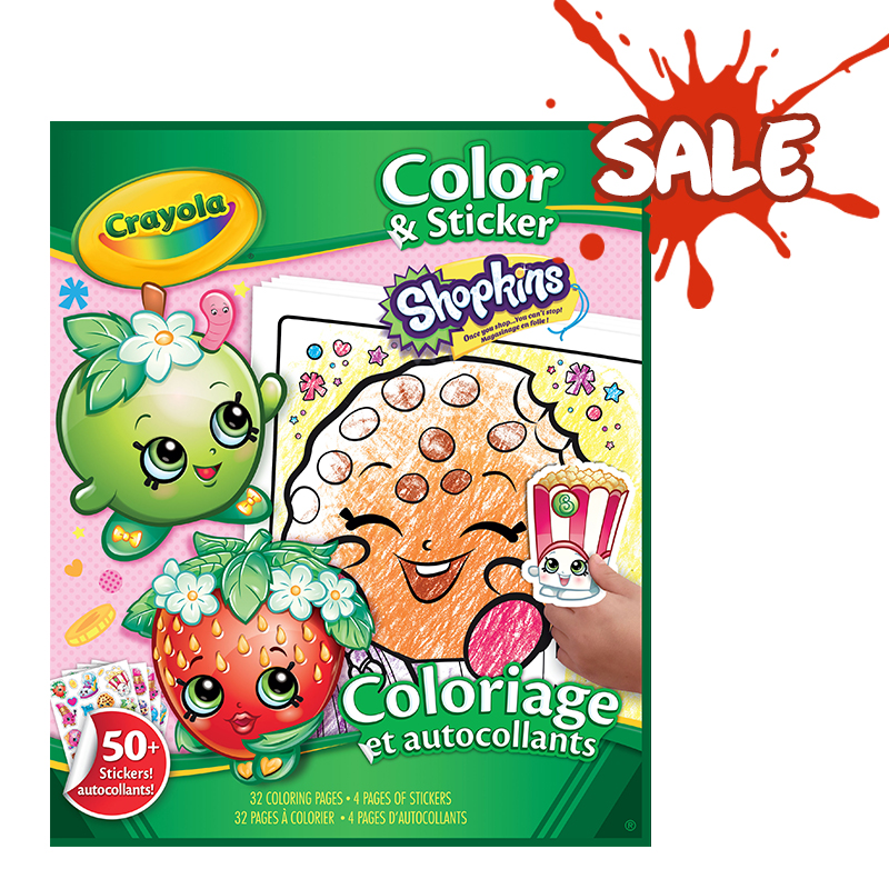 Rendimiento y calidad No tóxicos      Descripción    Libro para colorearystickers con imágenes de Shopkins. Contiene:32 hojas para colorear con imágenesdeShopkins y4 páginas de stikers de Shopkins.