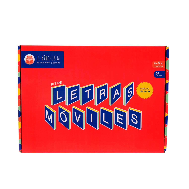 DE 5 AÑOS A MÁS  El juego Kit de letras móviles es un material didáctico que permite el desarrollo de los niños, relacionado con el lenguaje ral, el lenguaje escrito, la imaginación, la socialización y el razonamiento.  Contenido:  • 86 fichas  • 01 bandeja  • 01 pizarrín  • 01 instructivo