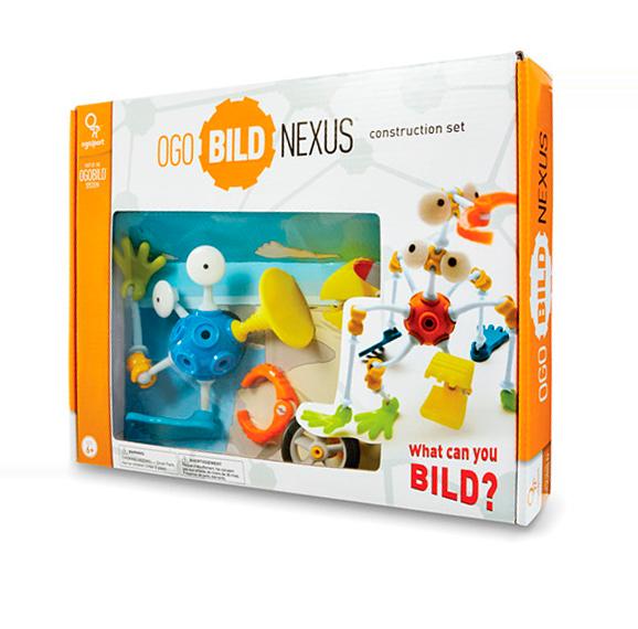 DE 6AÑOS A MÁS  Con más de 90 accesorios diferentes, el Nexus ofrece el máximo valor de juego. ¡Las posibilidades de crear son infinitas! El Nexus incluye 4 bolas flexibles OGOBILD para horas de diversión y una mayor variedad.  Contenido:  •4 bolas OgoBILD, 4 ruedas, 31 conectores, 16 articulaciones, 8 alas, 32 piezas de imaginación, 2 hélices  Materiales:  •BLA