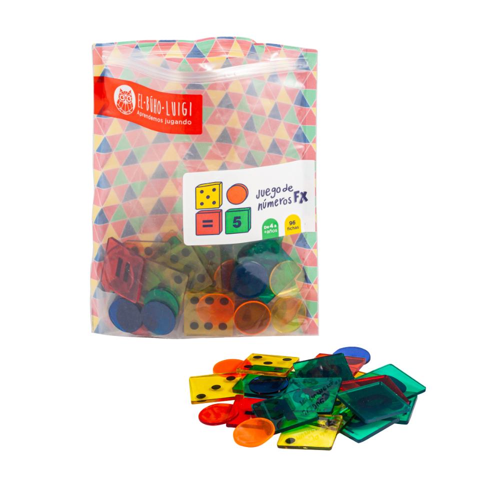DE 4 AÑOS A MÁS  El material educativo Juego de números permite al niño iniciarse en sus primeras operaciones matemáticas (adición y sutracción), desarrollando en él su pensamiento abstracto y lógico.   96 fichas