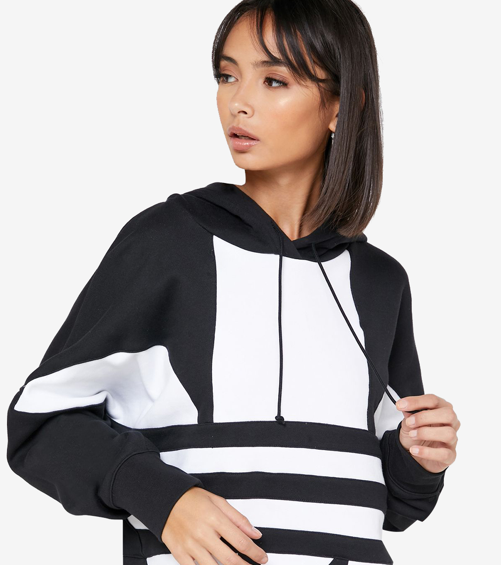 ADIDAS ORIGINALS BIG TREFOIL PULLOVER HOODIE- ROPA MUJER ...