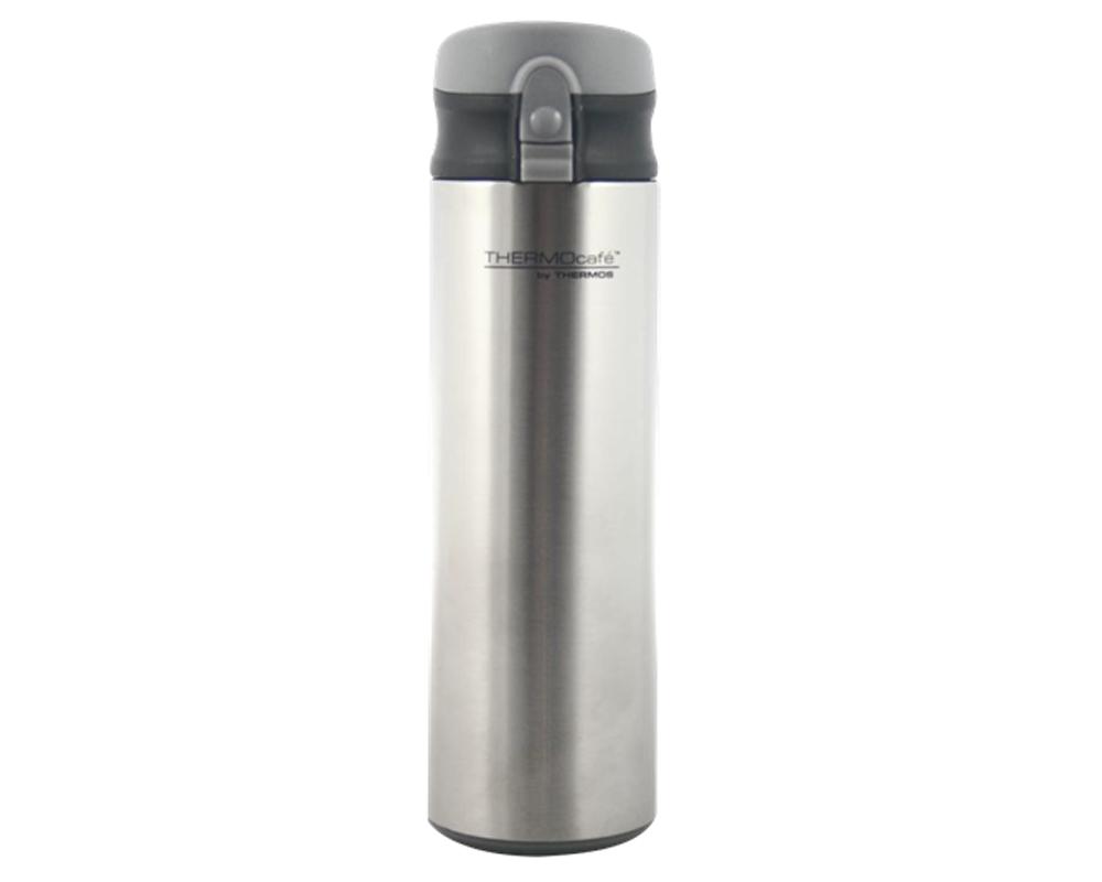 """Caracteristicas:   Capacidad: 450ML (Amico).   Colores:Gris (Amico).   Material: Interior de acero inoxidable. Mantiene la temperatura ideal.   Botón """"Presiona y toma"""".   Ideal para la lonchera.   Sistema anti derrame.   Conserva líquidos fríos.   No retiene olores"""