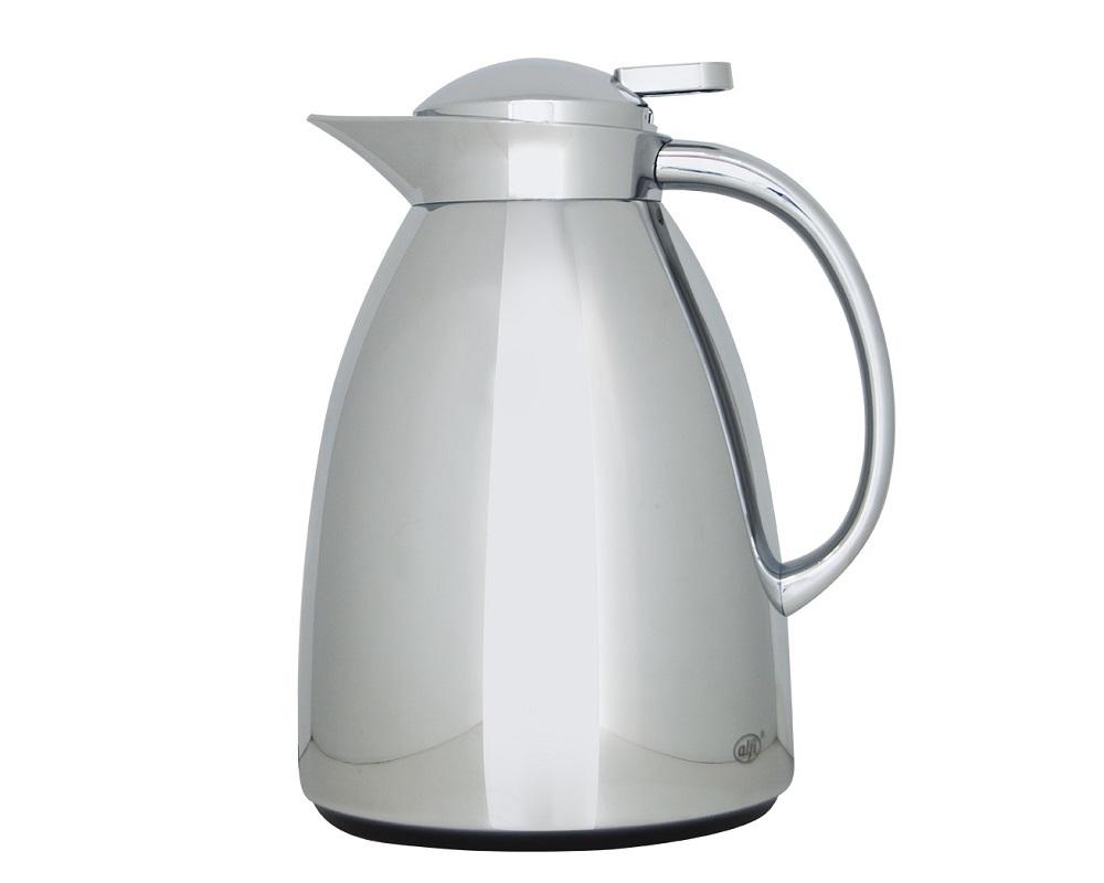 CARACTERÍSTICAS:   Elegante jarra con ampolla de vidrio   Capacidad: 1 litro - 8 tazas   Conserva 12 horas caliente y 24 horas frío   Diseño delicado     Práctico manejo, para servir con una sola mano  No conserva olores No hermética