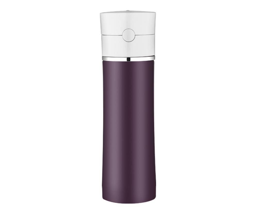 Características:    Capacidad: 530ML.   Material: Interior y exterior de acero inoxidable.   Sistema antiderrame.   Conserva líquidos fríos (12 Horas).   No retiene olores