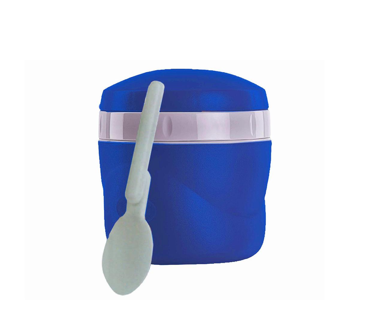 Características:   Capacidad: 235ML.   Material: Interior y exterior de plástico.   Aislamiento térmico con Poliuretano.   Ideal para la lonchera.   Incluye cuchara plegable.   Conserva caliente (3 horas) y frío (12 horas).  No conserva olores