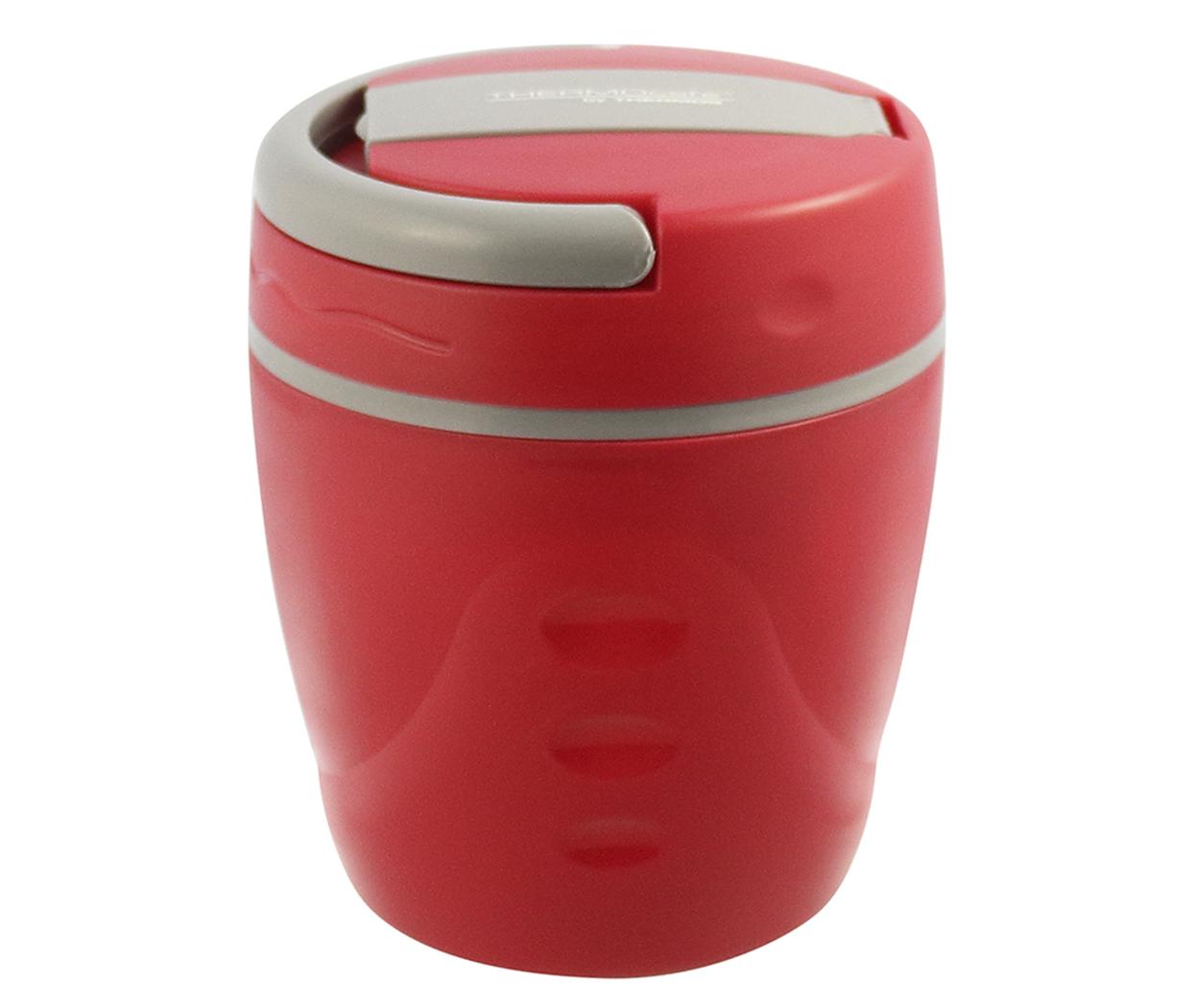 Características:   Capacidad: 1L   Material: Interior y exterior de plástico.   Aislamiento térmico con Poliuretano.   Ideal para la lonchera.   No conserva olores