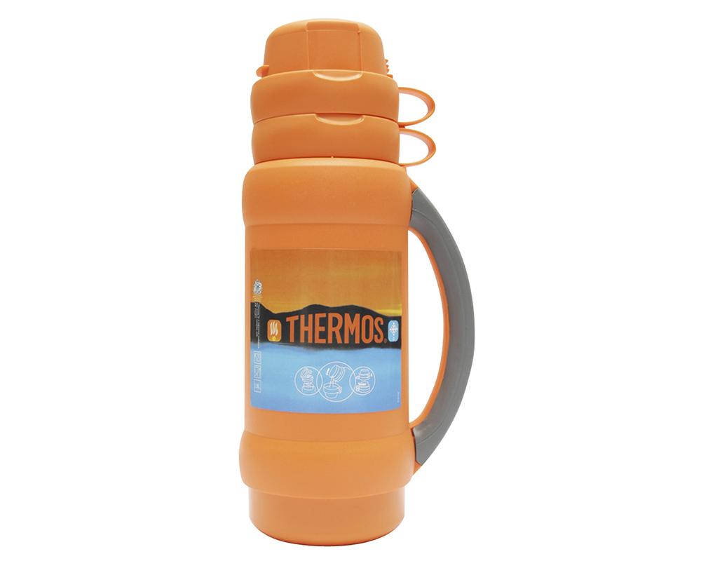 • Envase isotérmico con ampolla de vidrio interna  • Exterior de plásticolibre de BPA • Aislamiento al vacío • Líquidos fríos y calientes  • Mantiene bebidas calientes por 12 horas y frías por 24 horas