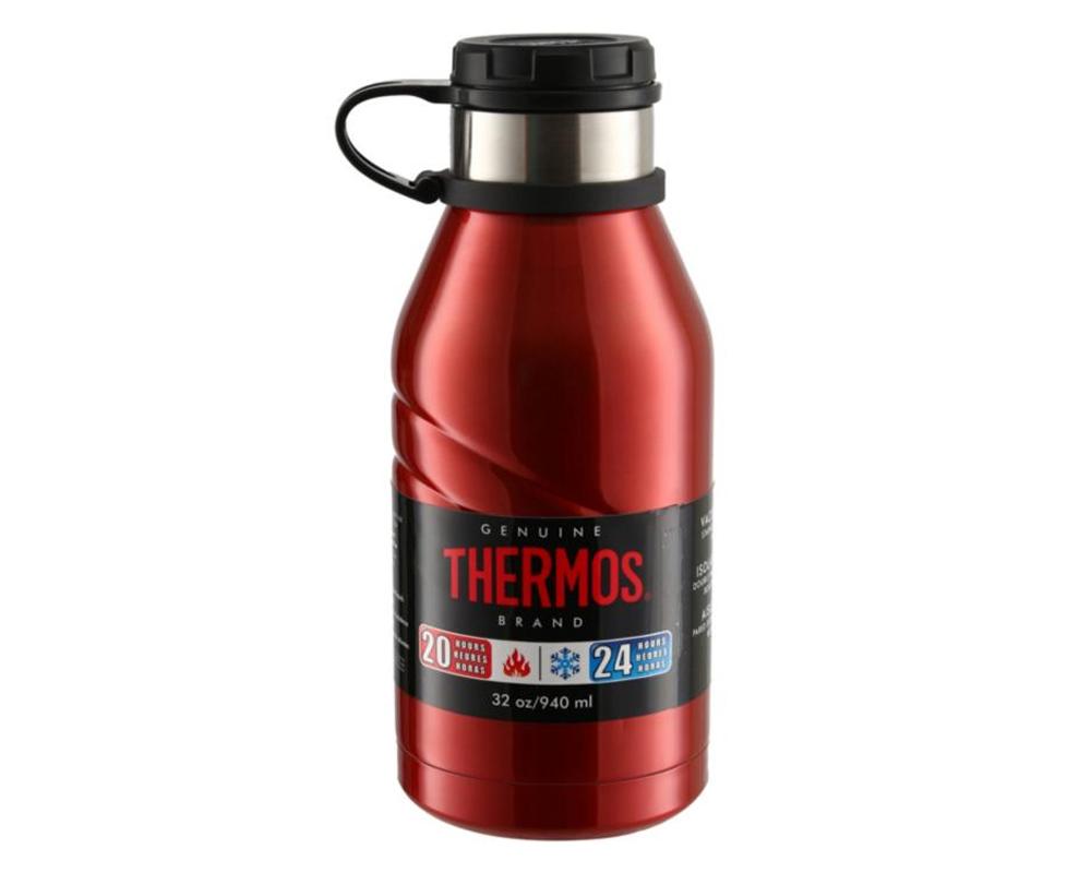 Mantiene la temperatura ideal de los líquidos - Línea Premium. Material: Acero inoxidable. Tapa rosca, permanece unida a la botella. Conserva líquidos fríos. Capacidad: 950 ML No aplica otras promociones