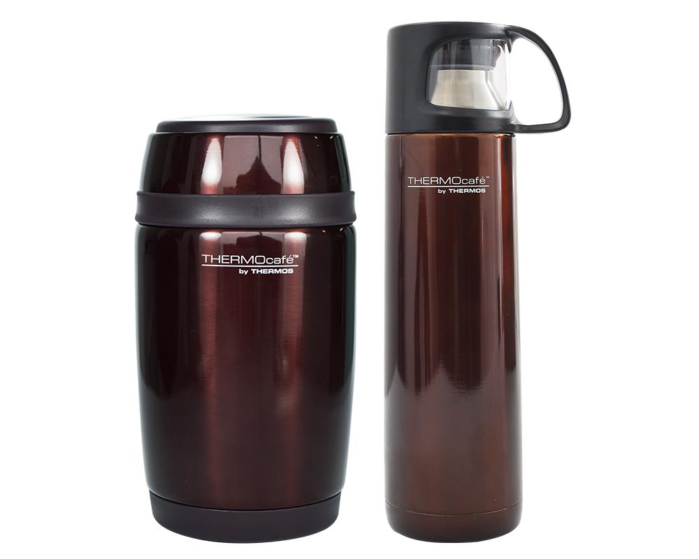 Termo de acero para alimentos Barrel 550 ML COD: TC-550FJC  Termo de acero para líquidos Habano 500 ML COD: THMF-500