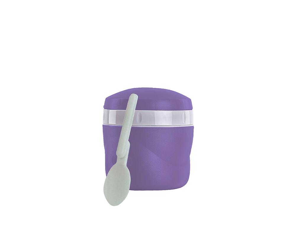 Características:  Capacidad: 235ML. Material: Interior y exterior de plástico. Aislamiento térmico con Poliuretano. Ideal para la lonchera. Incluye cuchara plegable. Conserva caliente (3 horas) y frío (12 horas). No retiene olores