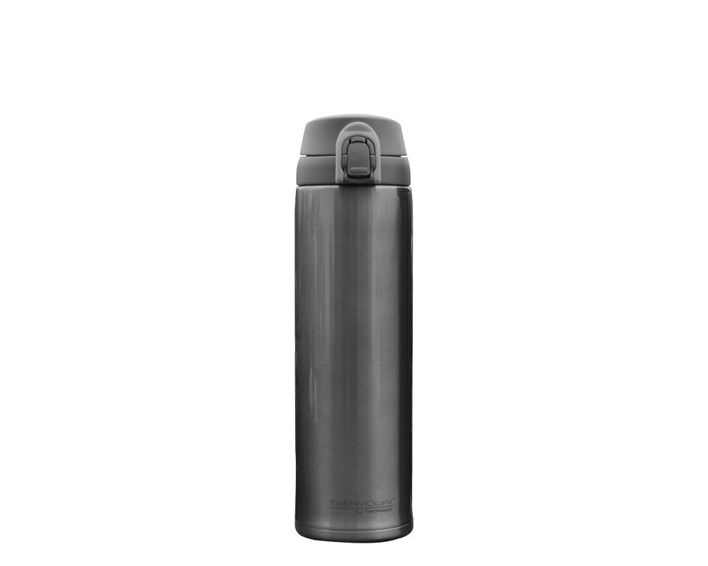 CARACTERÍSTICAS:    Capacidad: 530ml. colores: gris y azul. Material: interior y exterior de acero inoxidable. Sistema antiderrame. Conserva líquidos fríos (12 horas). No retiene olores.