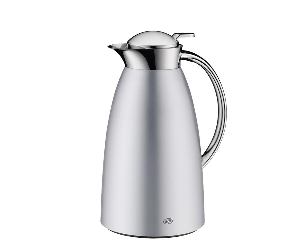 Características:  Elegante jarra con ampolla de vidrio Diseño delicado   Práctico manejo, para servir con una sola mano Capacidad: 1 litro - 8 tazas, 1.5 litros - 12 tazas Conserva 12 horas caliente y 24 horas frío No retiene olores No hermético