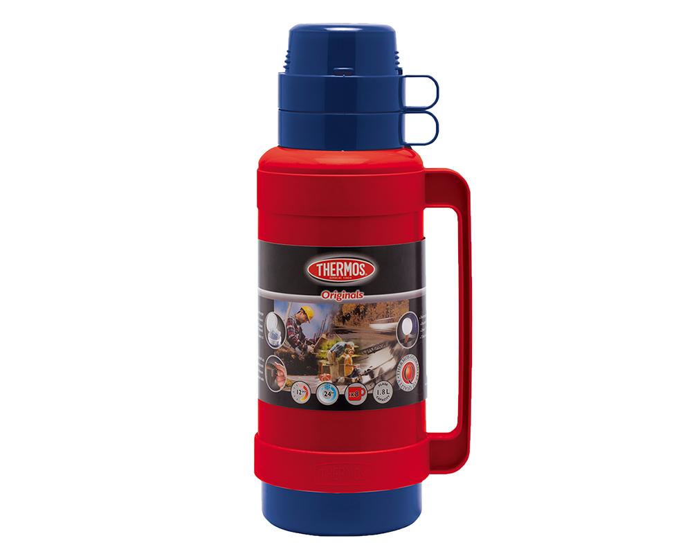 Características:  Exterior de plástico libre de BPA Ampolla de vidrio Mantiene caliente por 8 horas Mantiene frío por 24horas Incluye taza para servir líquidos No necesita abrir la tapa para servir No retiene olores