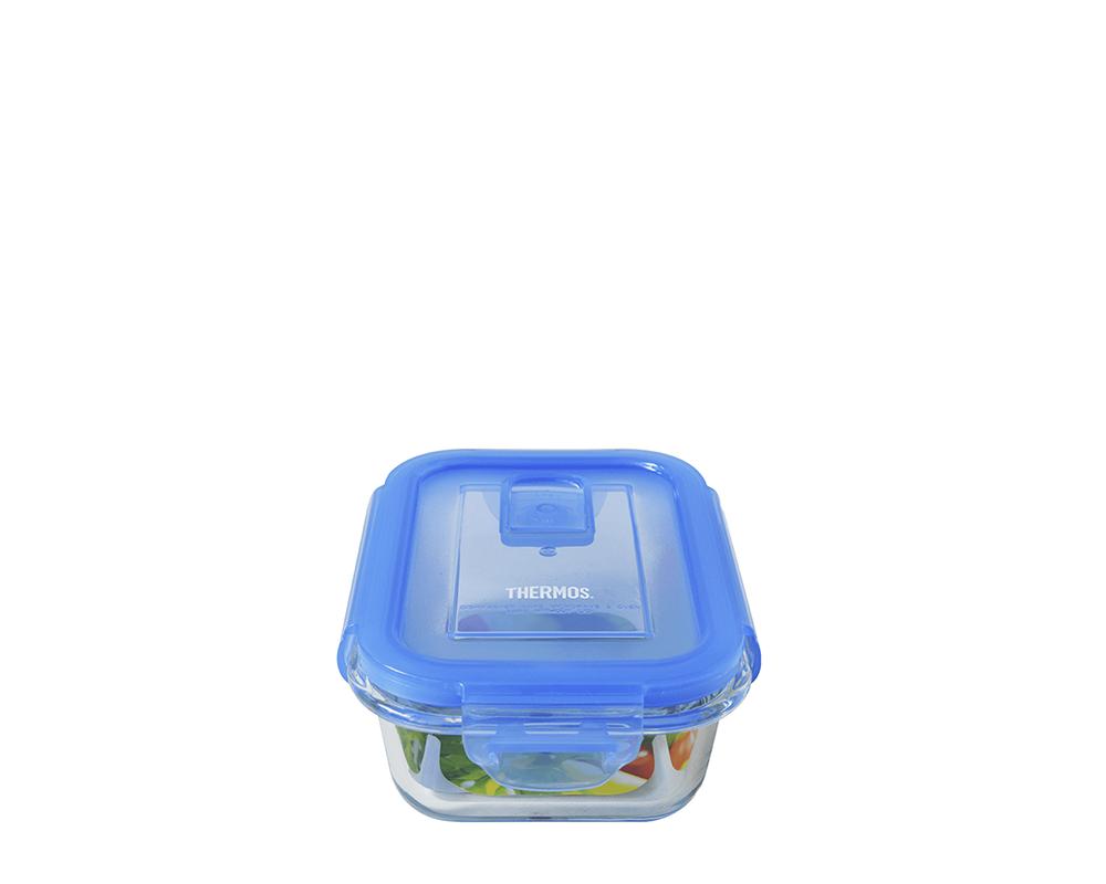 Características:  Capacidad: 370ml Material: interior y exterior de vidrio. tapa hermética y anti-derrame. Apto para horno convencional y microondas (usar sin tapa) Botón de sellado al vacío (bloquea el aire exterior y previene humedad interna) Libre de bpa. Fácil transporte y limpieza. No retiene olores Medidas:14 cm largo x10 cm ancho x 6 cm alto