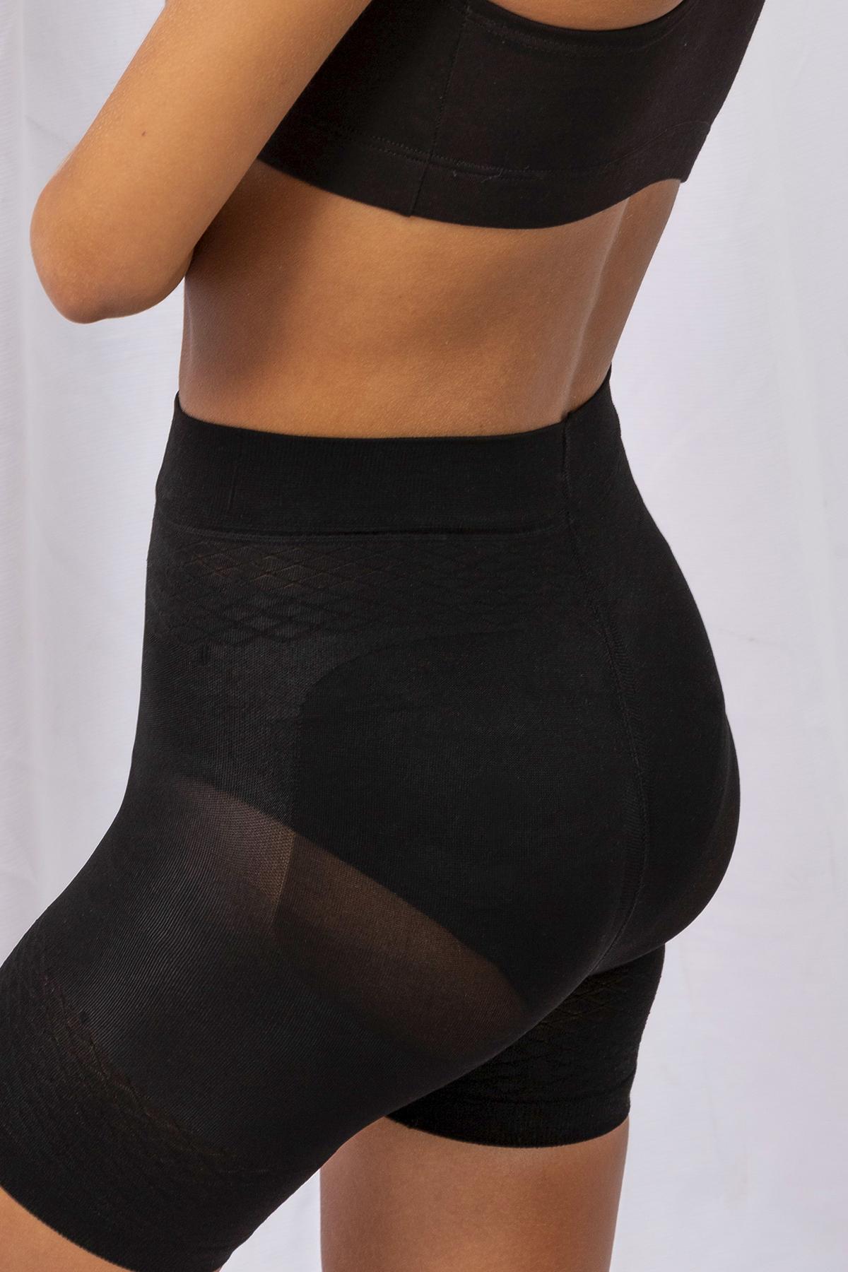 Reduce una talla  asentua la cintura,contrae el abdomen  rrealza gluteos ,afina los muslos  rombo anatomico de algodon  costura plana  80 & poliamida, 20% poliastano
