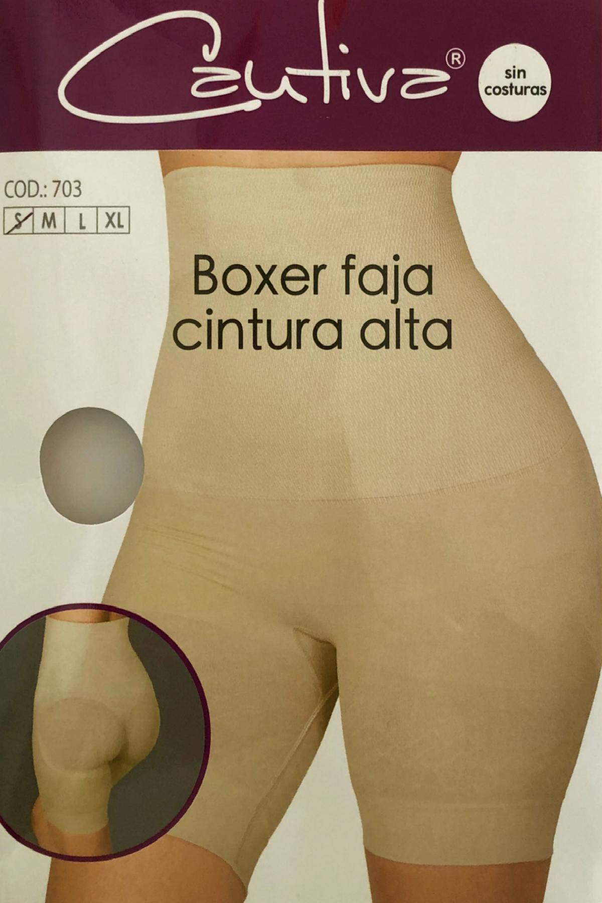Boxer faja cintura alta -Controla el adbomen y estiliza la figura -Levanta y reafirma los gluteos -Sin costura en tejidos y ofrece comodidad -Algodón en la zona íntima Composición 89% poliamida 8% elastano 3% algodón