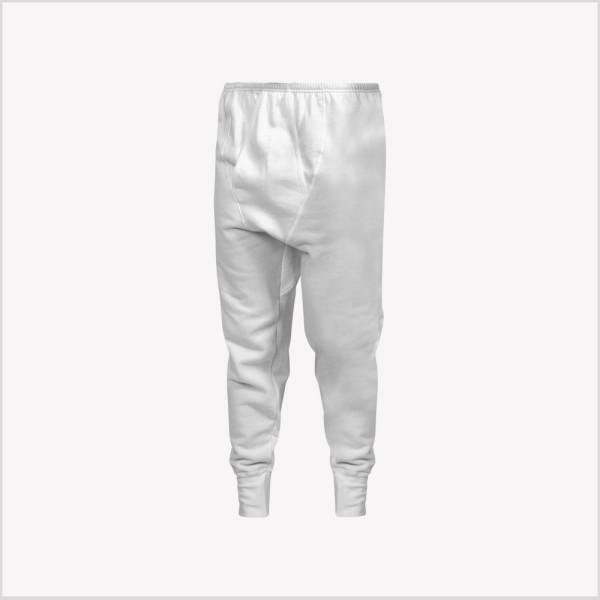 Calzoncillo largo de franela con elástico recubierto en cintura y pretina en los tobillos para mayor comodidad.
