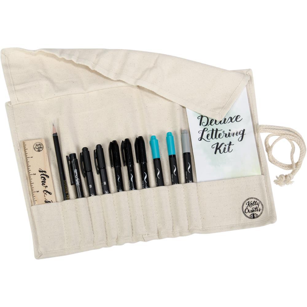 El Delux Letting Kit    Incluye  13 brushesesenciales  Ideal para principiantes y avanzados en lettering.  Vienen con diferentes grosor de pluma.