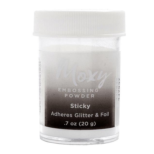 ¡Es hora de ponerse deslumbrante con moxy! use polvo de estampado moxy para lograr sellos hermosos y brillantes en cuestión de minutos.