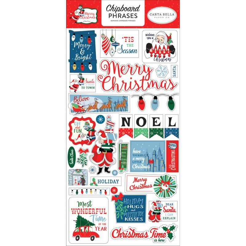 Chipboards adhesivos, coleccion navideña especiales para aplicar y embellecertus proyectos de scrapbooking, tarjetería, cartonaje y otras manualidades.  Equipo Scrapyart