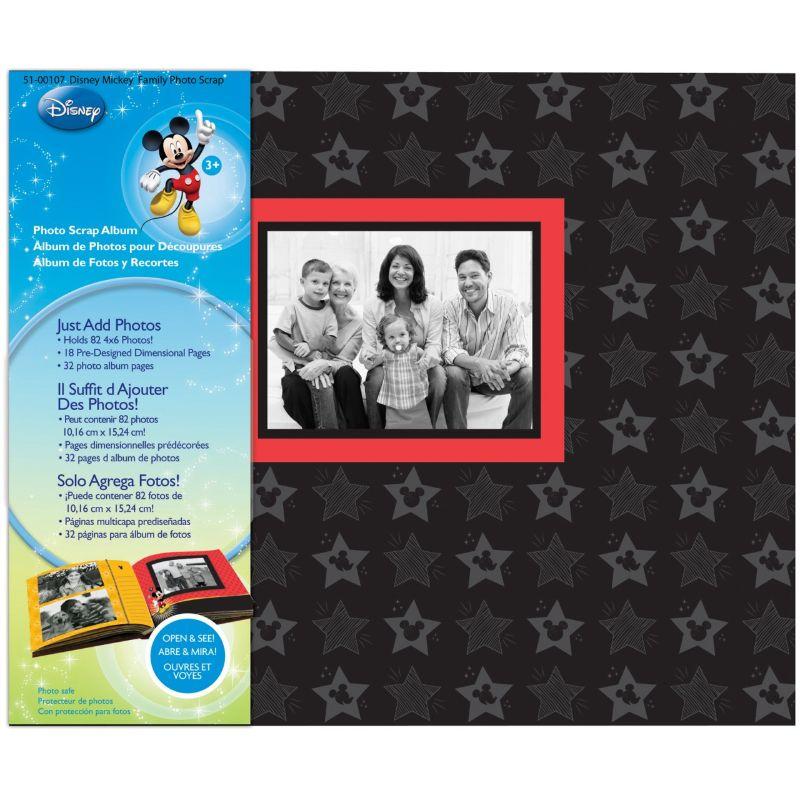 Scrap álbum de fotos de Mickey Mouse de Disney. Total de 20páginas, 8de las páginas son pre diseñado, Holds 48fotos