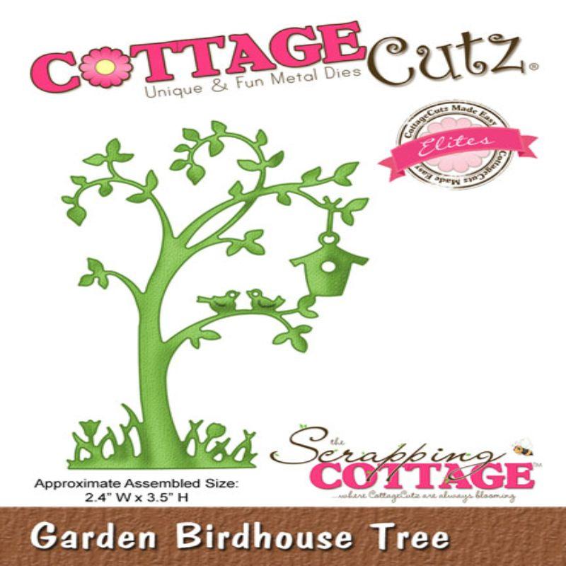 """Troquel """"Garden Birdhouse Tree""""  Troquel de diseño exclusivo de Cottage Cutz, de excelente aleaciónque garantiza su durabilidad, buen corte, perfecto embossado y libre de corrosión. Es compatible con todas las marcas conocidas de troqueladoras como: WeR, Sizzix ,Ellison , CuttleBug, SpellBinders entre otras.  Corta papel, cartulina , foami, tela ,paño lenci, láminas de aluminio.  Equipo Scrapyart"""