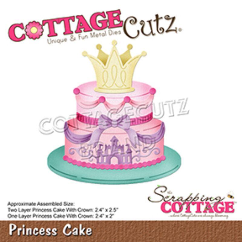 """Troquel """"Princess Cake""""  Troquel de diseño exclusivo de Cottage Cutz, de excelente aleaciónque garantiza su durabilidad, buen corte, perfecto embossado y libre de corrosión. Es compatible con todas las marcas conocidas de troqueladoras como: WeR, Sizzix ,Ellison , CuttleBug, SpellBinders entre otras.  Corta papel, cartulina , foami, tela ,paño lenci, láminas de aluminio.  Equipo Scrapyart"""