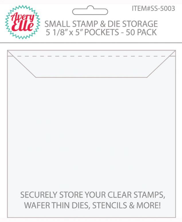 """Stamps &Dies Storage  Sobres para organizar, ideal para guardar, organizar y coleccionar tus troqueles, sellos y stenciles .  Pack x 50unid.5 1/8"""" x 5"""""""