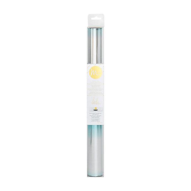 """Foil Minc""""Teal Silver Ombre"""" de Heidi Swapp  Rollo de foil de color Blanco, especial para utilizarla con la laminadora Minc.  31cm x 3 metros  Equipo Scrapyart"""