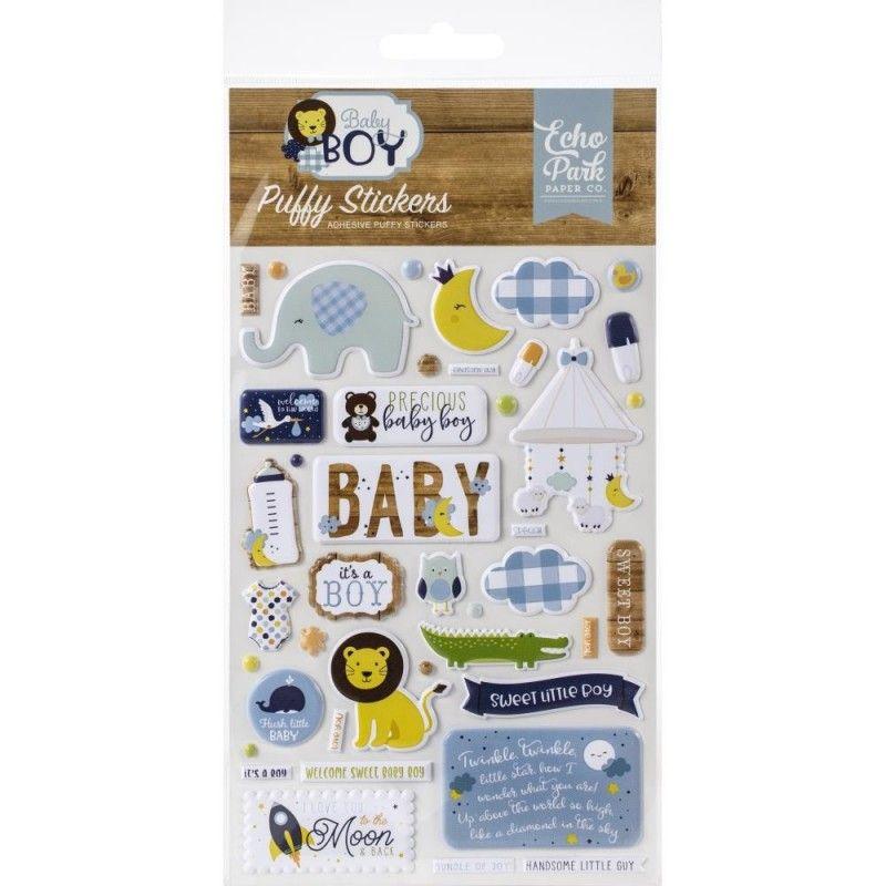 """Coleccion de stickers en 3D """"Baby Boy""""  Perfectos para decorar y embellecer tus proyectos de tarjetería, álbumes y otras manualidades.  Equipo Scrapyart"""