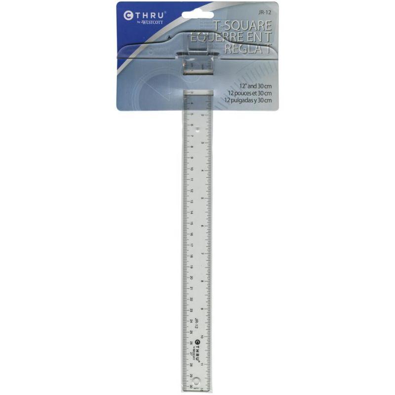 """Regla T Westcott 12""""calibrada en pulgadas y en centímetros, especial para todos tus proyectos.  Equipo de Scrapyart"""