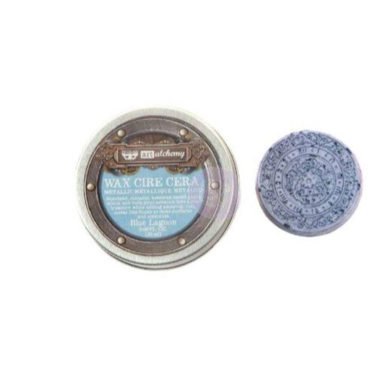 """Patina Metalica - """"Blue Lagoon"""" de Prima  Pasta wax metálica que le dará a tus proyectos un acabado metálico. Ideal para usar con la mayoría de las superficies como cartulina, madera, metales y otros elementos de mixed media.  contiene 0,68 oz .  Equipo Scrapyart"""