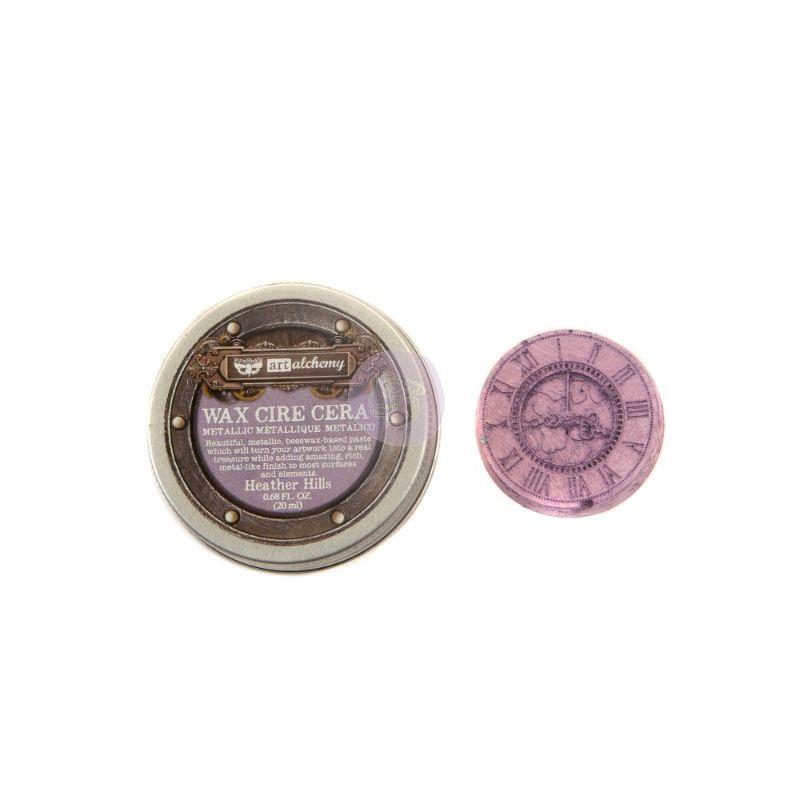 Patina Metalica - Heather Hills de Prima  Pasta wax metálica que le dará a tus proyectos un acabado metálico. Ideal para usar con la mayoría de las superficies como cartulina, madera, metales y otros elementos de mixed media.  contiene 0,68 oz .  Equipo Scrapyart