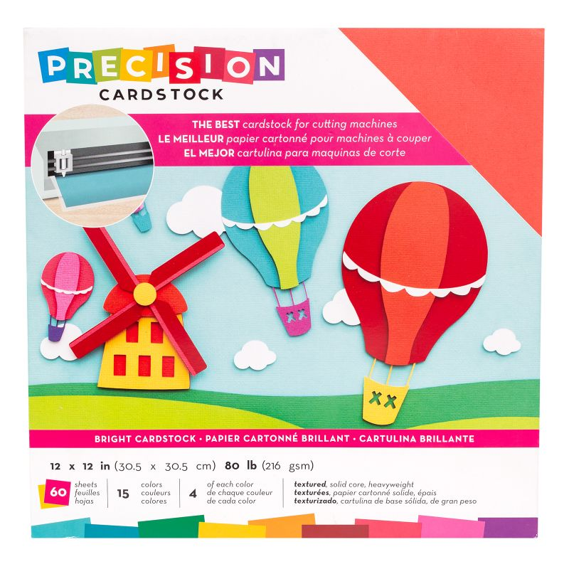 Pack de 60 cartulinas  15 colores, aprox 4 de cada color 216gr cada cartulina  Cartulinas texturizadas, de base sólida y gramaje alto