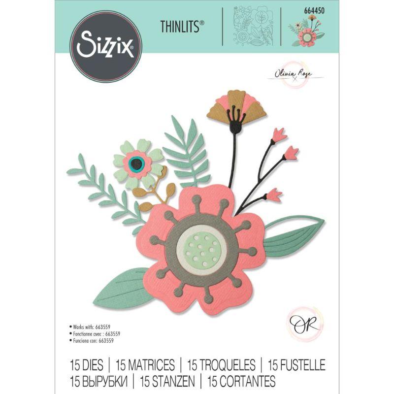 """Troquel """"Creative Florals"""" de Sizzix  Colección de troqueles Sizzix. Estos troqueles ofrecen una variedad de opciones económicas individuales o múltiples. Son fáciles de usar, compactos y portátiles. Estos troqueles son compatibles con Sizzix BIGkick, BigShot, Big Shot Pro, Revolutions y otras marcas de troqueladoras. Este paquete contiene 15 troqueles.  Equipo Scrapyart"""
