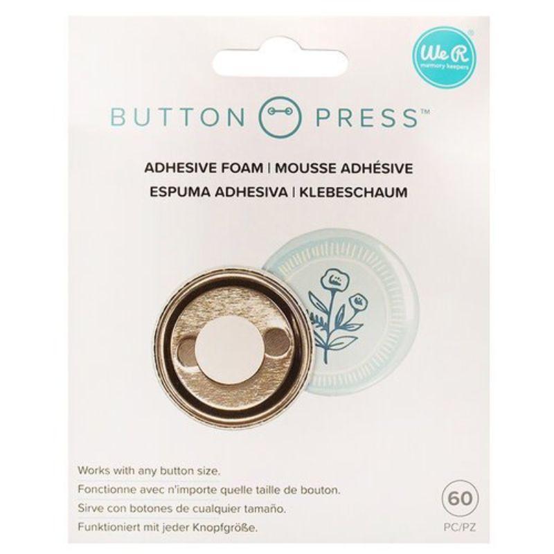 Button Press Adhesive Foam  Especiall para usar con cualquier tamaño de la colección de botones de presión de We R Memory Keepers.   En el paquete se incluyen 60 piezas .  Equipo Scrapyart