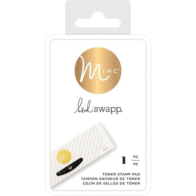 Toner Stamp Pad de Heidi Swapp  Tampon especial con almohadilla para Tinta Toner Heidi Swapp. Idealpara usarlas con tus sellos favoritos y pasarlas por la Minc, creando un laminado a tu estilo.  Equipo Scrapyart