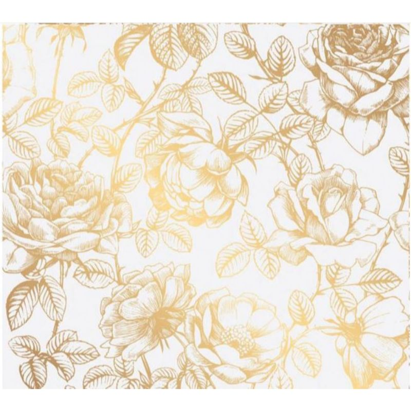 "Vellum ""Gold Floral""  Lámina de rosasdoradas sobre papel vellum.  Equipo Scrapyart"