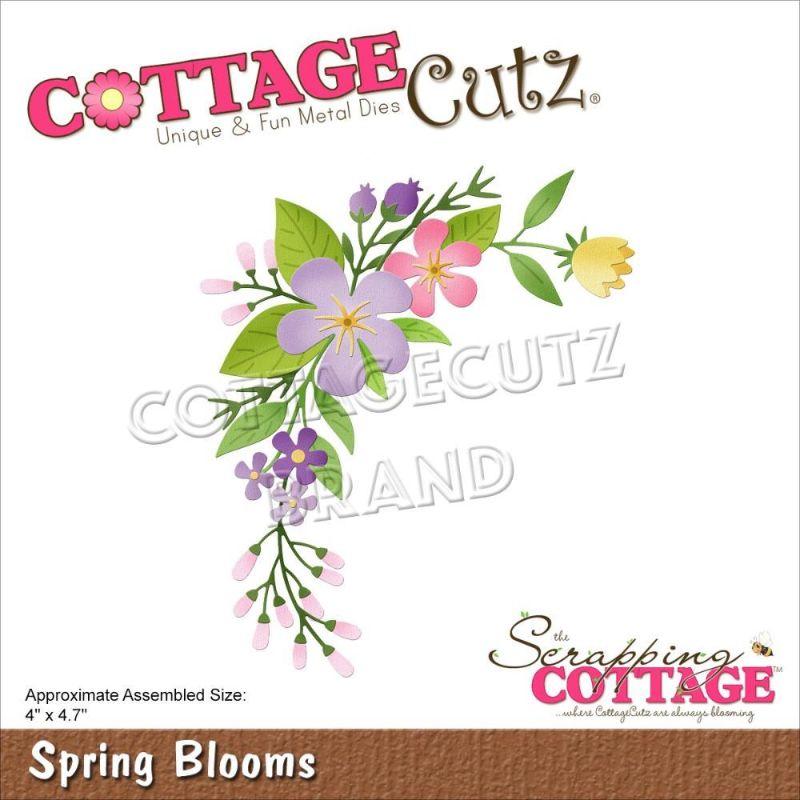 """Troquel """"Spring Blooms""""  Troquel de diseño exclusivo de Cottage Cutz, de excelente aleaciónque garantiza su durabilidad, buen corte, perfecto embossado y libre de corrosión. Es compatible con todas las marcas conocidas de troqueladoras como: WeR, Sizzix ,Ellison , CuttleBug, SpellBinders entre otras.  Corta papel, cartulina , foami, tela ,paño lenci, láminas de aluminio.  Equipo Scrapyart"""