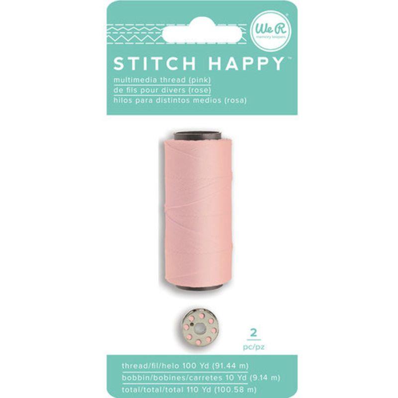 Hilo Rosado Pastel ,  incluye un carrete de hilo metálico. Sirve para la Stitch Happy y Stitch Happy Pen..  Longitud:  - Carrete: 1.60 cm