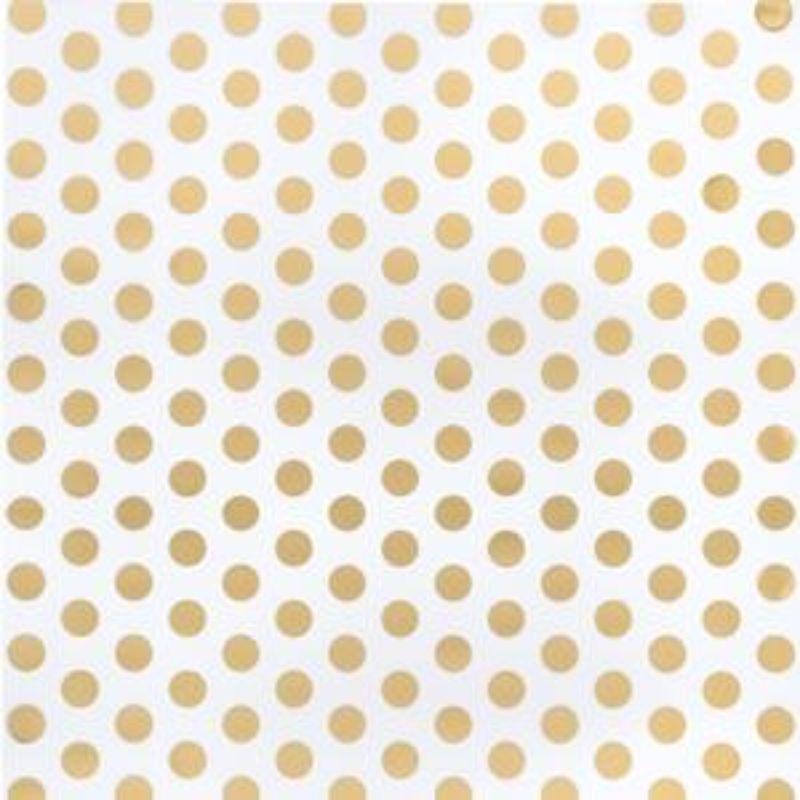 """Acetato con Diseños Dots Foil 12x12""""  Lunares de lámina de oro sobre acetato transparentede excelente calidad y durabilidad.  Equipo Scrapyart"""