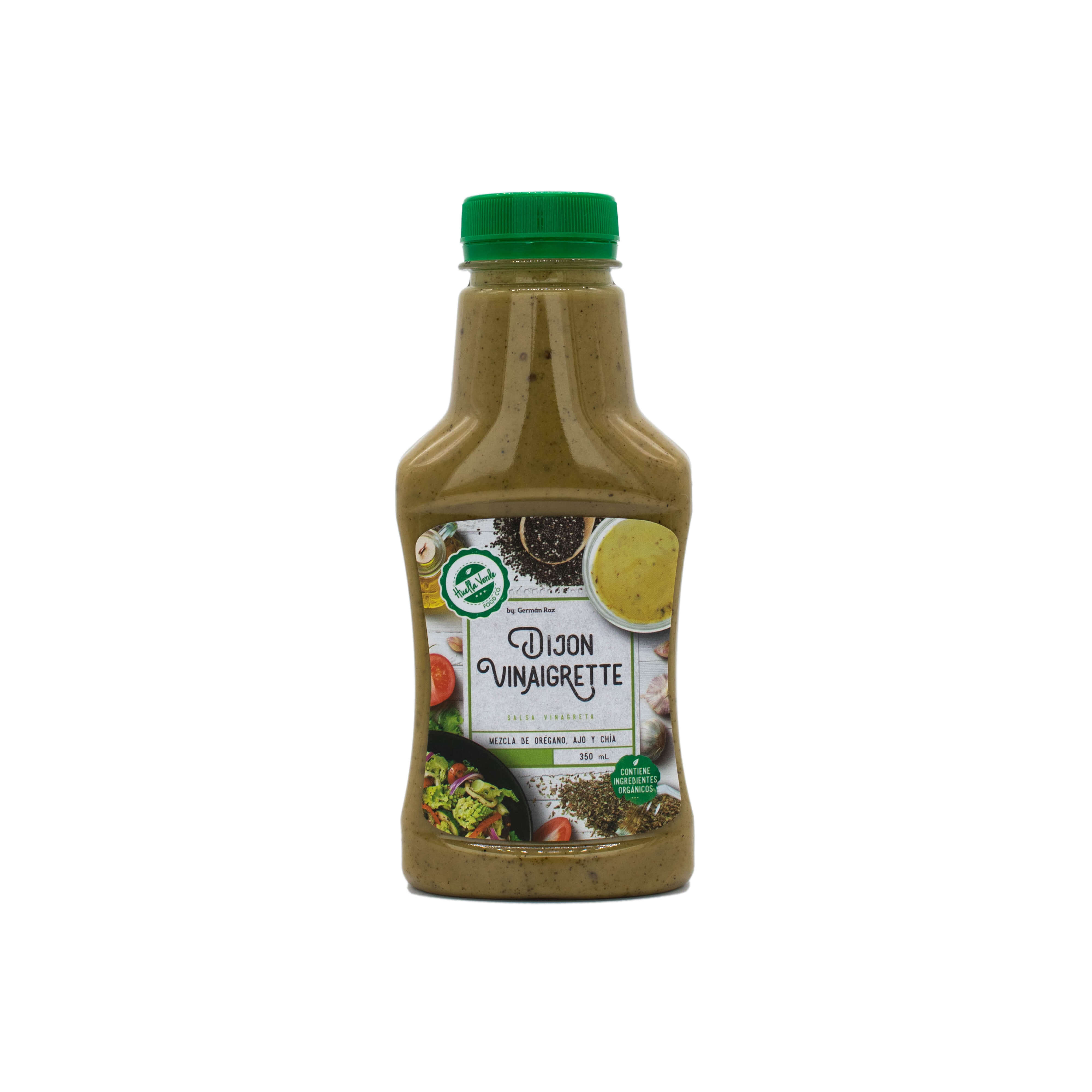Mediterránea y ligera. Ingredientes: Orégano, ajo, chía, aceite de oliva, mostaza, vinagre de manzana, panela orgánica  Frasco 350ml